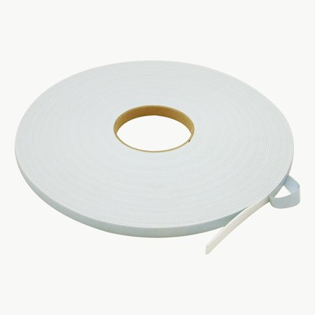 JVCC DC-PEF06A Double Coated Polyethylene Foam Tape: 1/16 in. thick x 1/2 in. x 36 yds. (White)