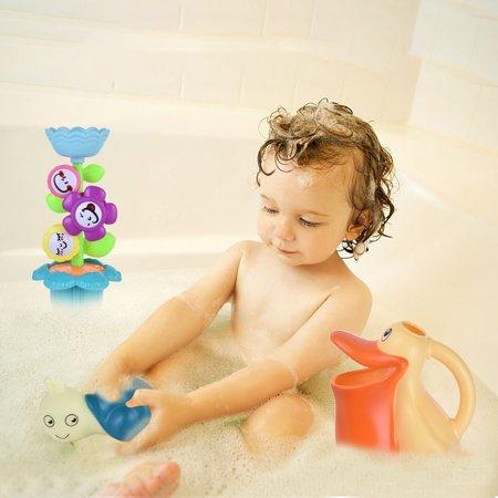 Baby Bath Toy Bath Toy Set Flower Waterfall Water Station Kids' Best