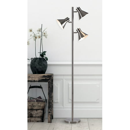 Kenroy Home Ash Brushed Steel Tree Lamp with Metal Construction