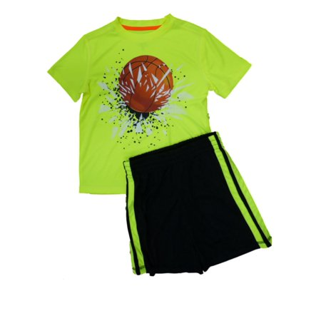Energy Zone Boys 2 PC Athletic Shorts & Basketball Shirt Active Wear Set X-Small