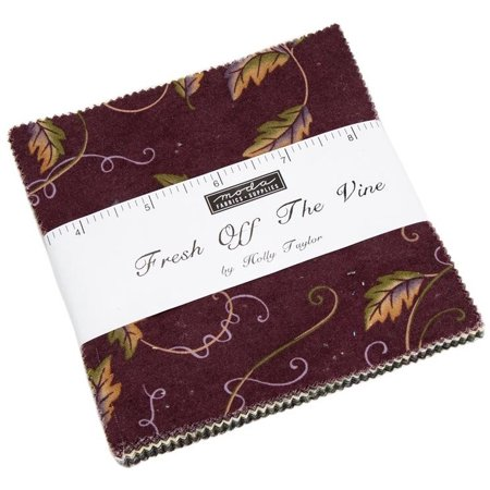 "Fresh Off The Vine Moda Charm Pack by Holly Taylor; 42 - 5"" Precut Fabric Quilt Squares"