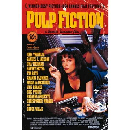 Pulp Fiction Uma Thurman Mia Wallace Smoking 24