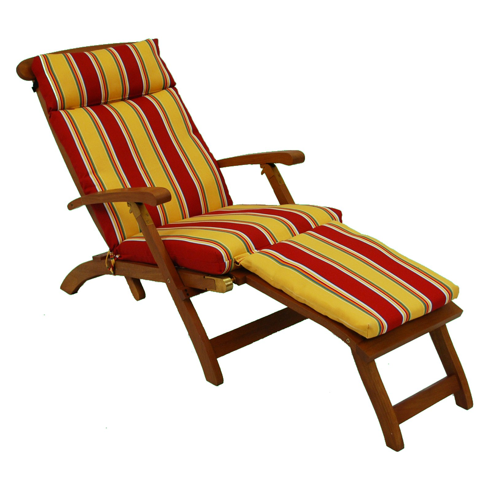 Blazing Needles 72 in. Outdoor UV Resistant Steamer Deck Lounger Cushion
