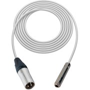 Sescom SC1.5XSJWE Audio Cable Canare Star-Quad 3-Pin XLR Male to 1/4 Inch TS Female White - 1.5 Foot