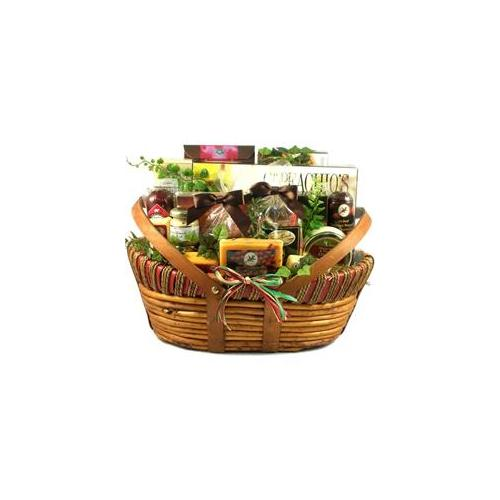 Gift Basket Village ThMi-Lg The Midwesterner, Cheese And Sausage Gift Basket - Large
