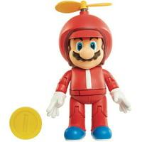 World of Nintendo Propeller Mario with Coin Action Figure