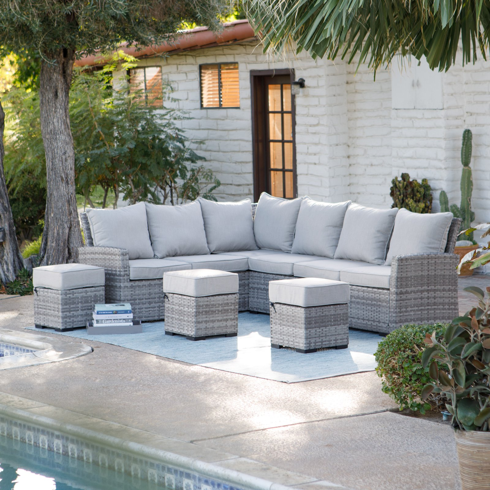 Belham Living Brookville All Weather Outdoor Wicker Sofa Sectional Set by Terrace Living Company LLC