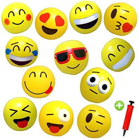 12 Emoji Beach Balls Inflathle 12