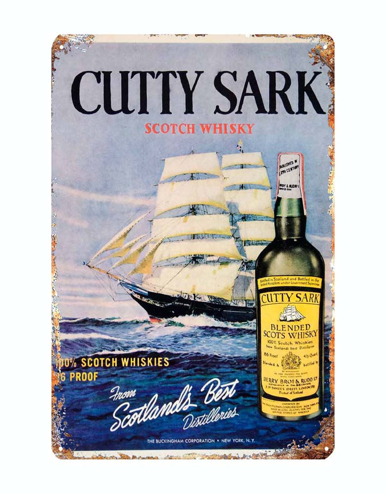 Cutty Sark Bar Man Cave, Pub Retro Metal Plaque//Sign