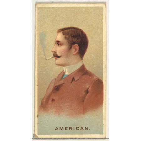 American from Worlds Smokers series (N33) for Allen & Ginter Cigarettes Poster Print (18 x