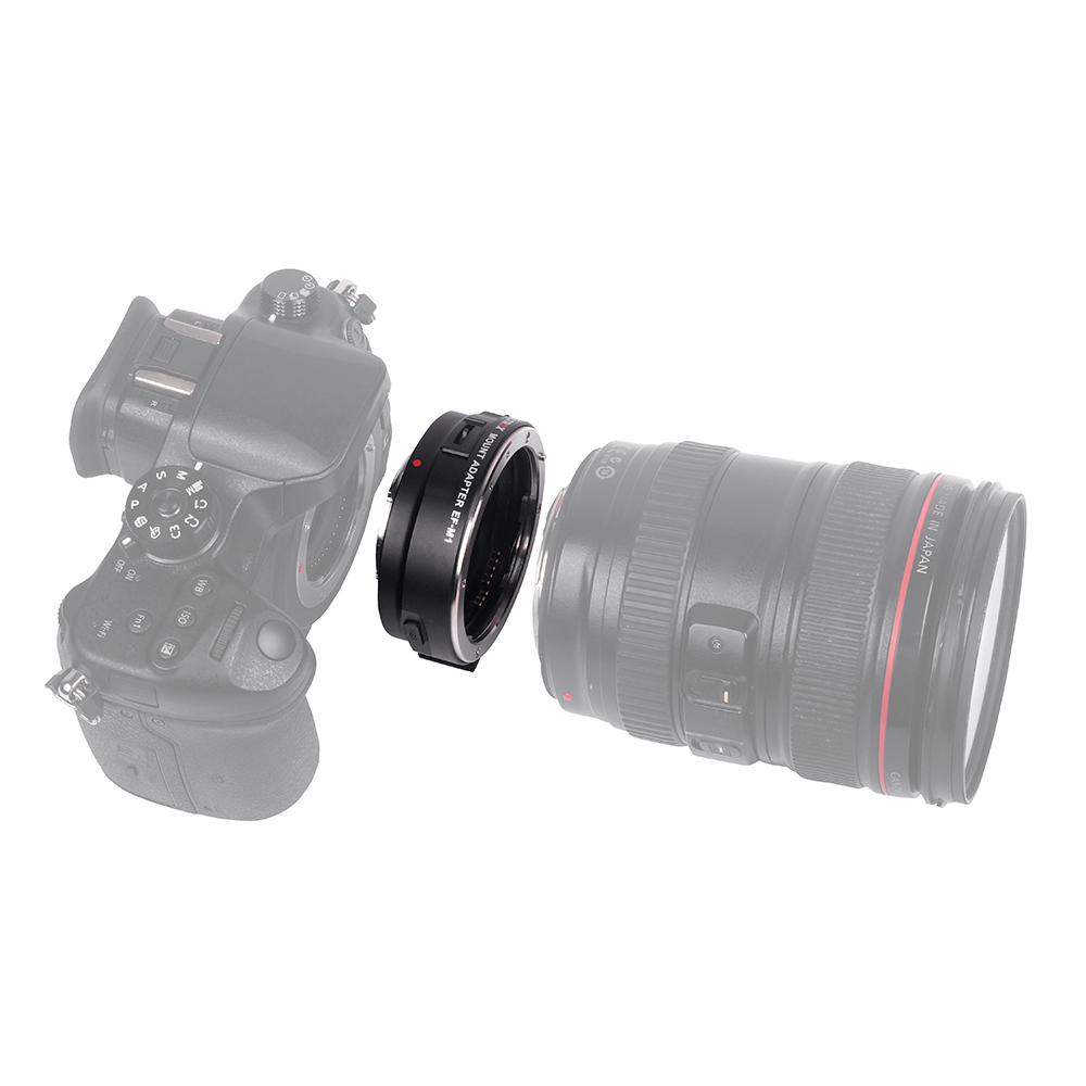 Viltrox EF-M1 Lens Adapter Ring Mount AF Auto Focus Aperture Control VR Stabilization for Canon EF//EF-S Lens to M4//3 Micro Four Thirds Camera for Panasonic GH5//4//3 Olympus