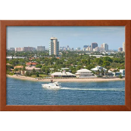 beautiful city of fort lauderdale framed print wall art by r peterkin
