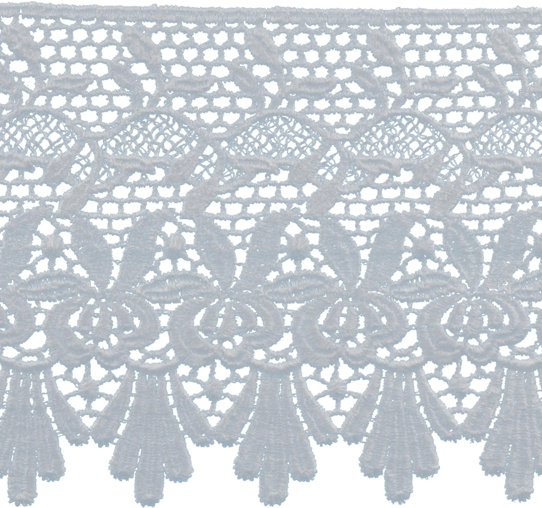 """Deco Trims Venice Lace Edge Trim 4-7/8""""X5yd-White"""