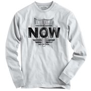 Christian Long Sleeve T Shirt The Time Is Now Cross Jesus Faith Religion Tee by Christian Strong