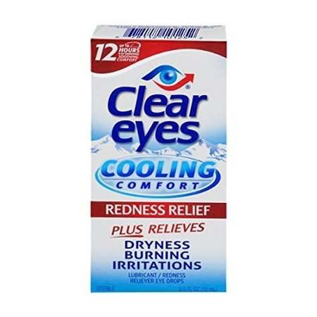 Clear Eyes Cooling Comfort- Redness Relief, 0.5 Ounce (Blue Contacts For Brown Eyes)