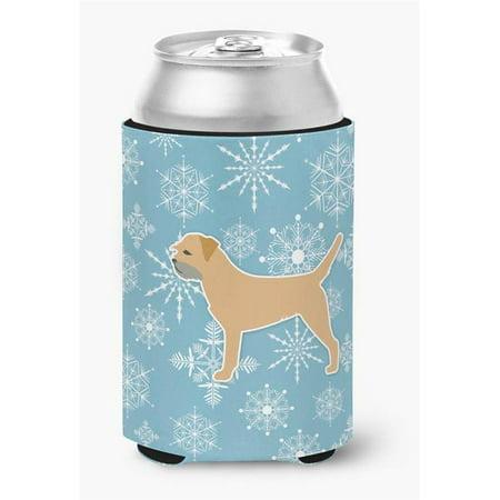 Winter Snowflake Border Terrier Can or Bottle Hugger](Winter Borders)