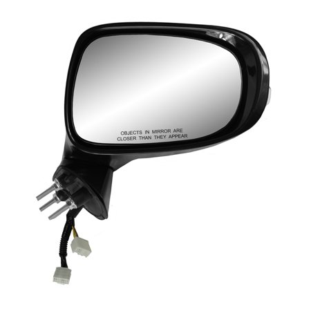 70709T - Fit System Passenger Side Mirror for 09-13 Lexus IS250 Sedan, IS350 Sedan, black w/ PTM cover, w/ turn signal, memory, puddle lamp, w/ luxury sport pkg, foldaway, w/o (Lexus Luxury Sedan)