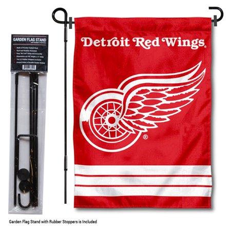 Detroit Red Wings Garden Flag and Flag Holder Set