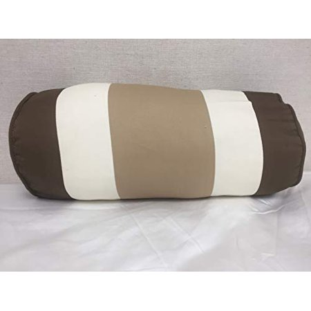 Bed Bath & Beyond Striped Bolster (Brown, White), 18