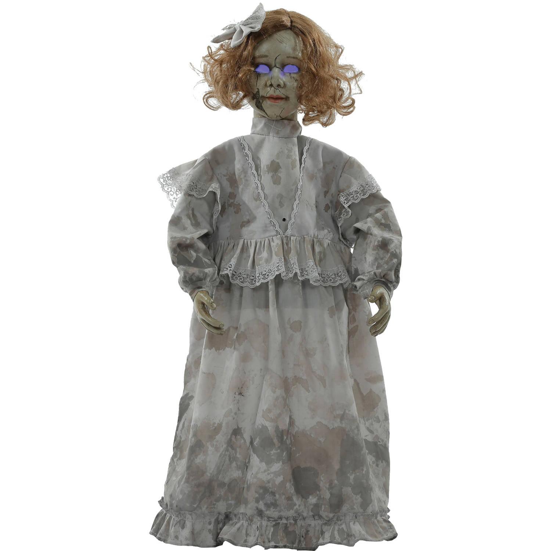 Cracked Victorian Doll Prop Halloween Decoration