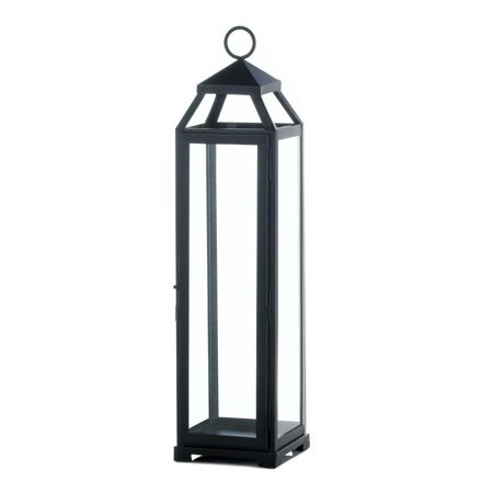 Lamp Candle, Tabletop Decorative Extra Large Holder Metal Candle Lantern,  Black - Large Black Lanterns