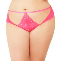 Seven 'til Midnight Plus Size Crotchless Cut-Out Lace Thong