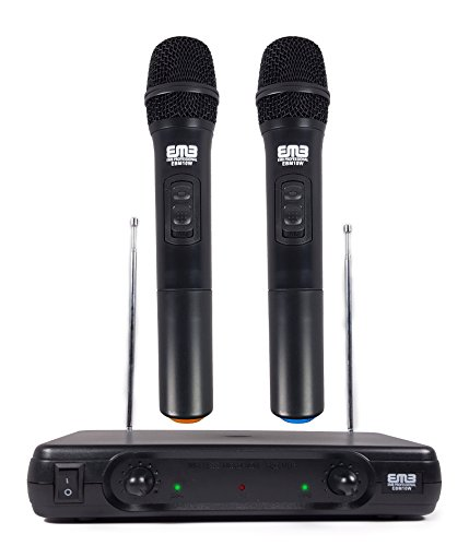 EMB Pro EBM10W Professional Dual VHF Wireless Handheld Microphone System by