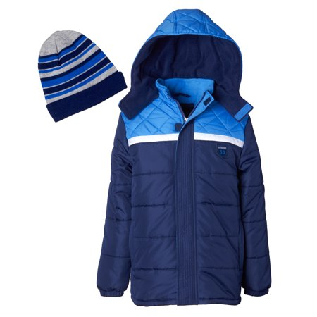 iXtreme Diamond Quilted Puffer Jacket With Free Gift Accessory (Little Boys & Big Boys)