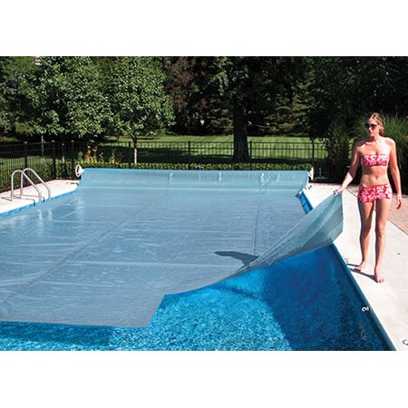 16\'x32 Rectangle Inground Swimming Pool Clear Diamond Solar Cover Blanket -  12 Mil w/ 6 pack Quick Drain Grommet System