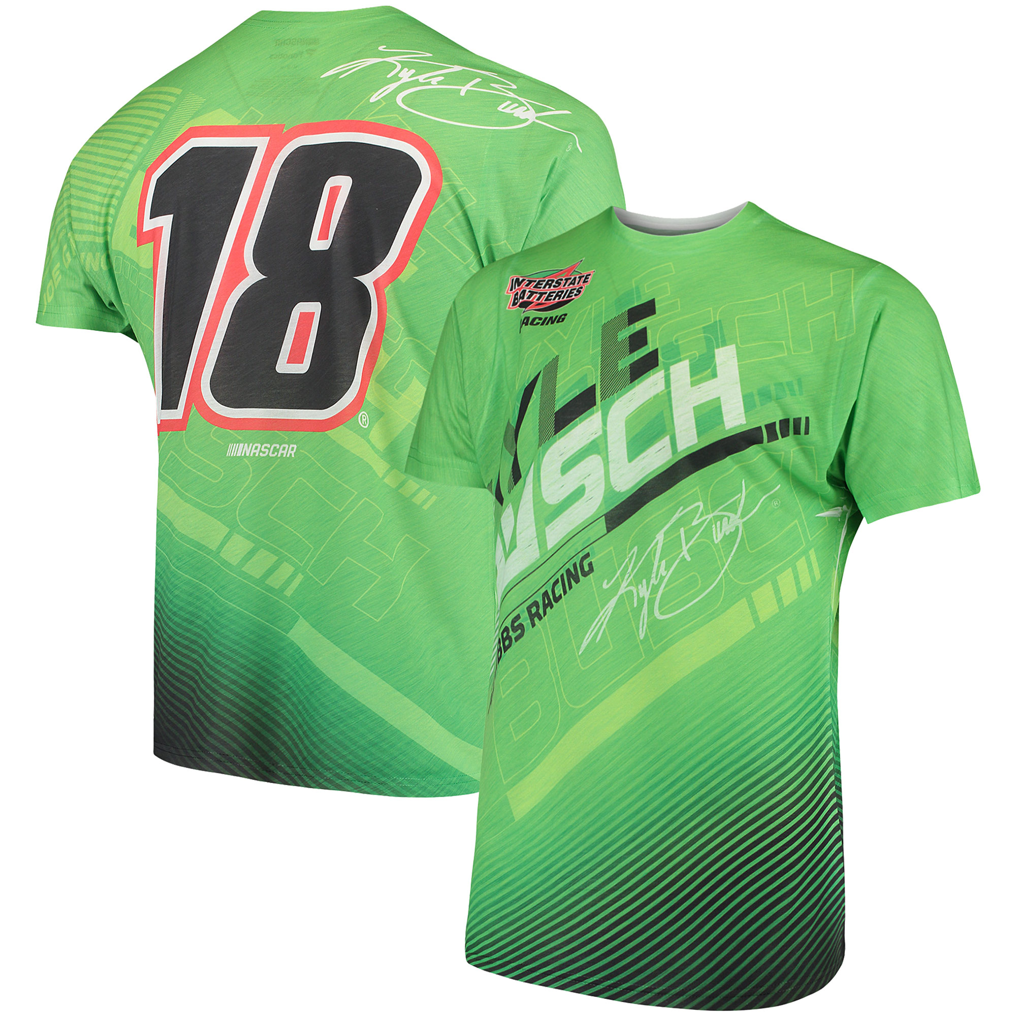 Kyle Busch Fanatics Branded Asphalt Sublimated T-Shirt - Green