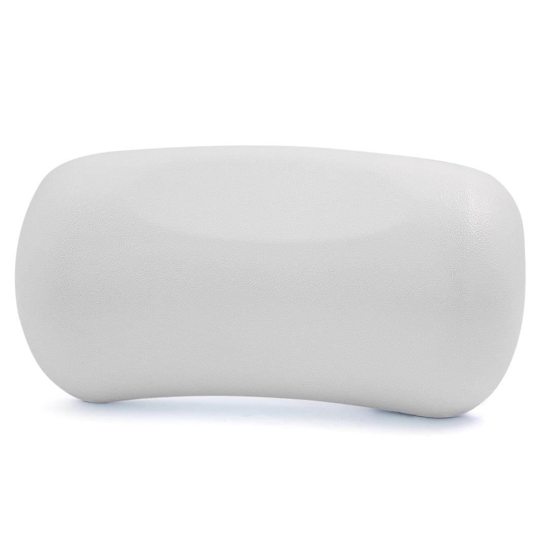 White Neck Back Support Headrest Tub Bath Spa Pillow Cushion w/ 2 ...