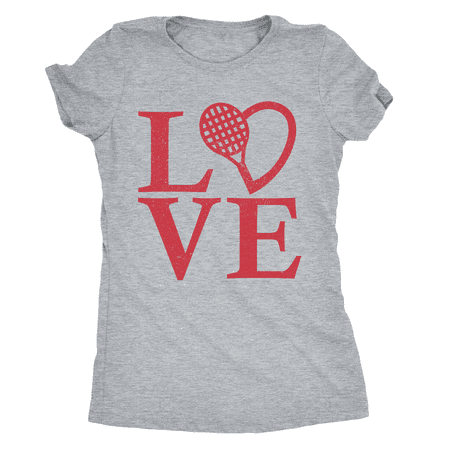 Womens Love Tennis T shirt Cool Sports Tee Workout Apparel for (Athlete Womens Tennis Shirt)
