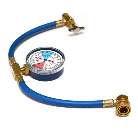- R134A AC Car Air Conditioning Refrigerant Recharge air conditioner Measuring Kit Hose Gauge