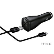 OEM Fast Car Charger with USB Type C Charger Cable Cord Compatible Samsung Galaxy S20 S20+ S10 S10e S9 / S9+ / S8 / S8 Plus/Active/Note 10 / Note 8 / Note 9/ A20 / A50 / A70 and More