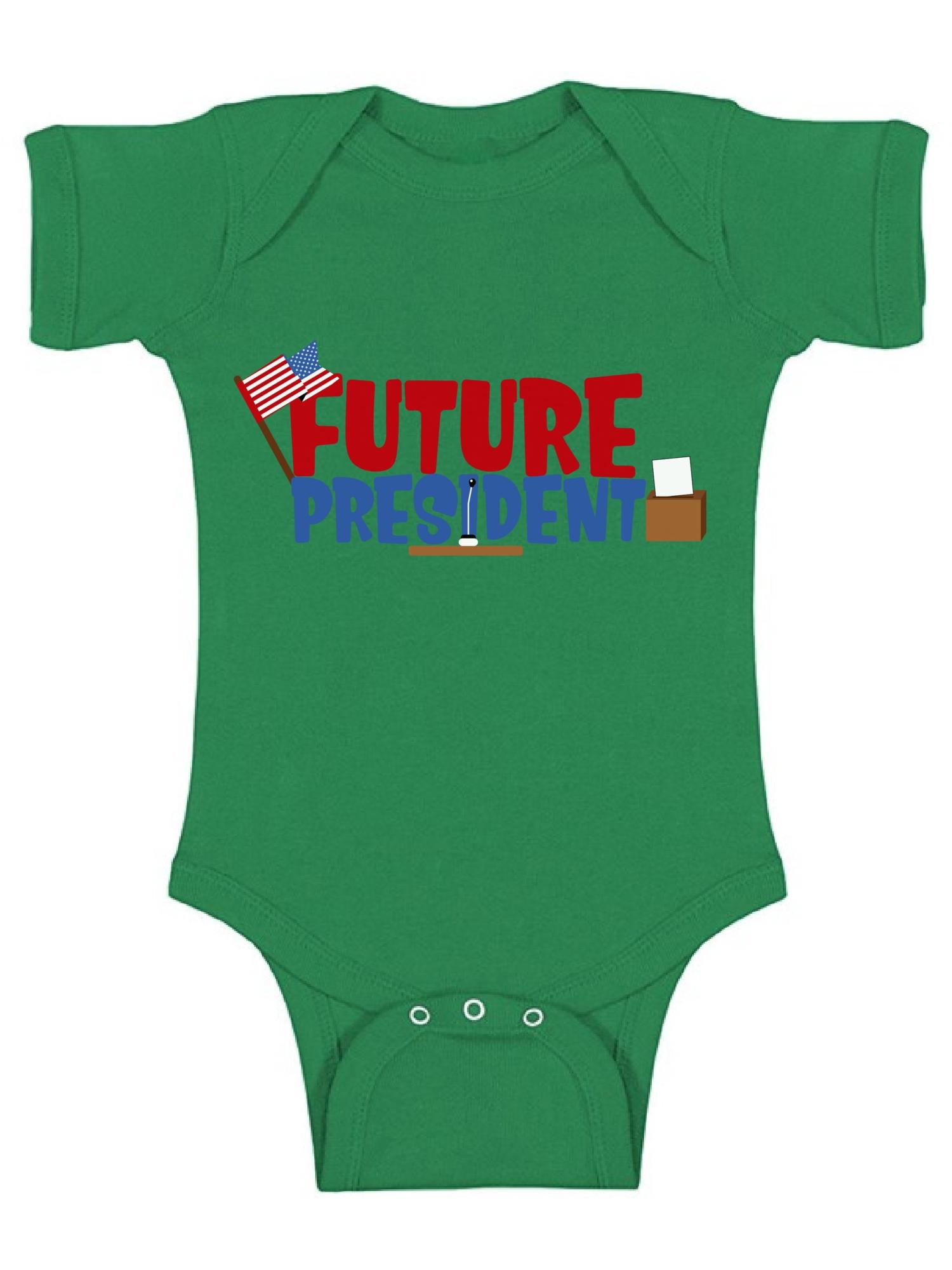Awkward Styles Future President Bodysuit fo Newborn Baby for 1Year Old