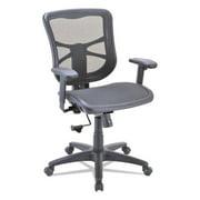 Alera EL42B18 Elusion Series Air Mesh Mid-Back Swivel & Tilt Chair, Black