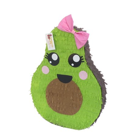 b2f6266a95dea Avocado Pinata with Pink Bow, Green, 18in x 24in - Walmart.com