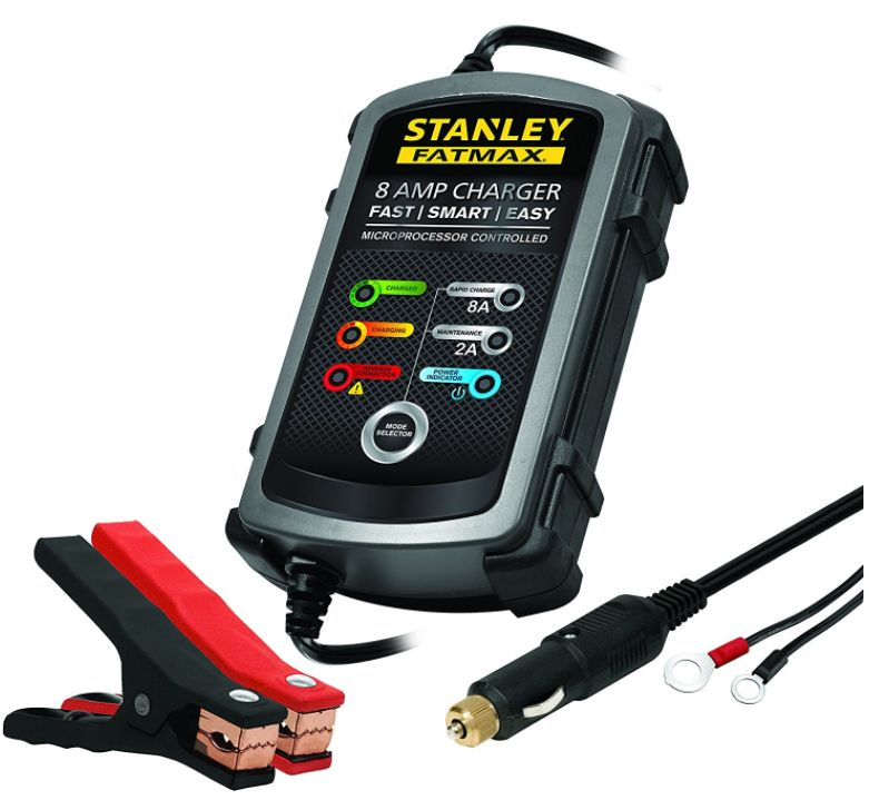 Factory Refurbished STANLEY FATMAX BC8S 8 Amp Battery Charger with 2 Amp Maintainer