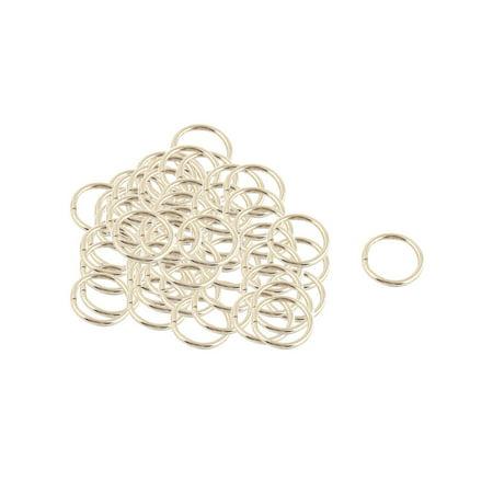 Tone Base Metal Links - Metal Annular Shape Link Belt Ring Buckle Silver Tone 35pcs for Handbag Backpack