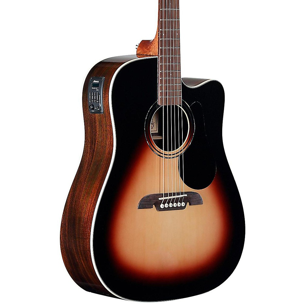 Alvarez RD270CESB Dreadnought Acoustic-Electric Guitar Sunburst by Alvarez