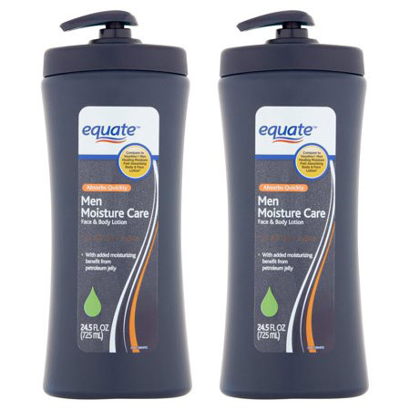 Equate Men Moisture Care Face & Body Lotion, 24.5 Oz