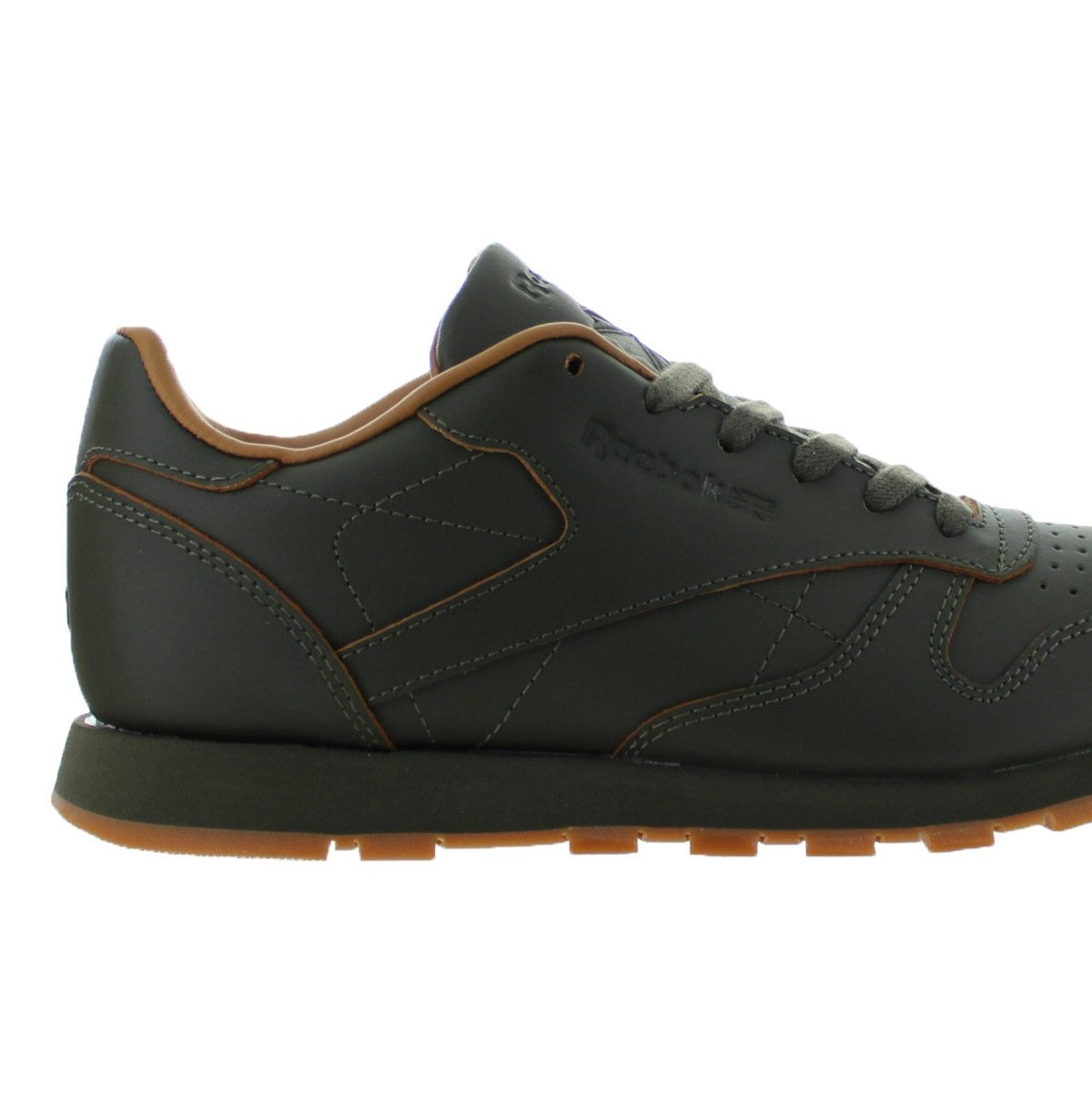 Kids Reebok Classic Leather Lux Kendrick Lamar GS Olive Night Gum Brow by Reebok