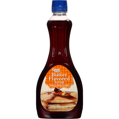 Great Value: Butter Flavored Syrup, 24 oz