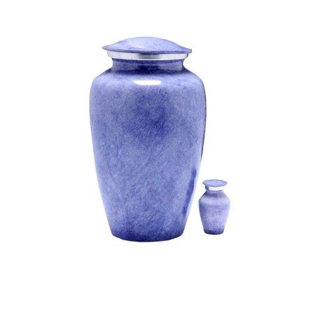 Lavender Marble Cremation Urn - Violet Urn - Lavender Urn - Affordable Handcrafted Adult Funeral Urn for Ashes - Large Urn with Keepsake