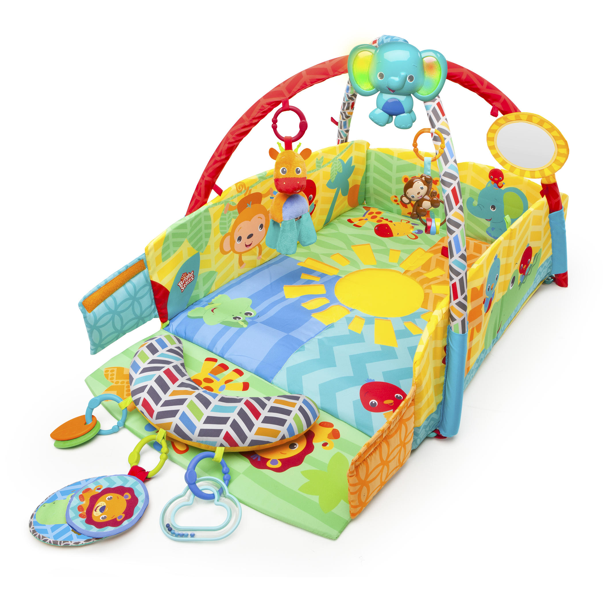 Bright Starts Sunny Safari Baby's Play Place Activity Gym