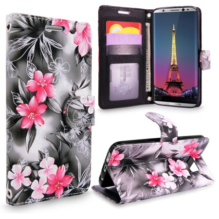 Leather Shell Case - Galaxy S8 Plus Case, Cellularvilla [Slim] [Card Slot] Premium Pu Leather Wallet Case [Wristlet] [Drop Protection] Flip Protective Shell Stand Cover For Samsung Galaxy S8 Plus