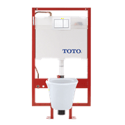 TOTO® Maris® Wall-Hung Elongated Toilet and DuoFit® in-wall 0.9 and 1.6 GPF Tank System Copper Supply Line, Cotton White - CWT486MFG-2#01