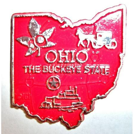 Buckeyes Magnet (Ohio The Buckeye State Map Fridge)