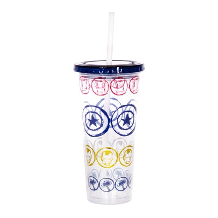 UPC 842906137752 product image for Marvel Icons 16oz Plastic Carnival Cup with Lid and Straw | upcitemdb.com