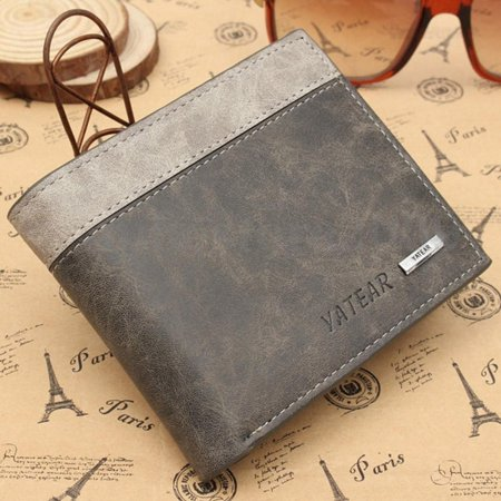 Fashion Mens Designer Brown Leather Wallet Luxury Credit Card Holder Bifold Purse HoT